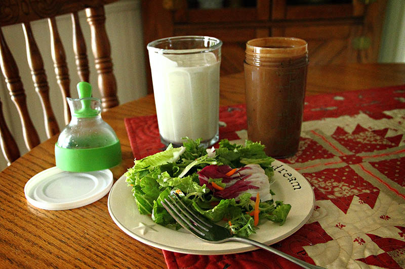 Homemade Blue Cheese And Creamy Balsamic Salad Dressings