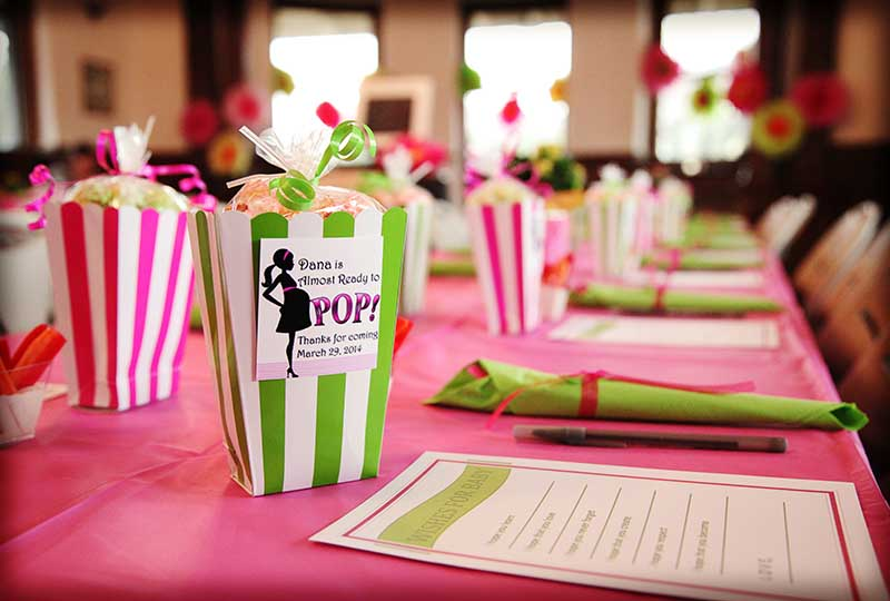 Pink And Green Baby Shower Theme Shower Designs